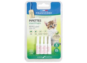 Pipettes antiparasitaires répulsives chaton x4