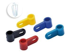 Bagues attaches plastiques sans vis (x 5)