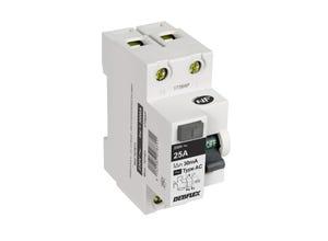 Interrupteur différentiel 25A type AC blanc