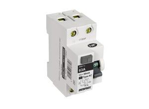 Interrupteur différentiel 63A type AC blanc
