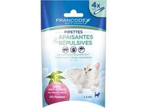 Pipettes anti-stress & répulsives pour chat x4
