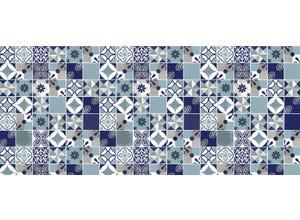 Adhésif décoratif 45cm x 2m - Château bleu
