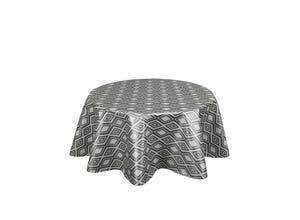 Nappe bord franc ronde 150 cm - Diamante noir