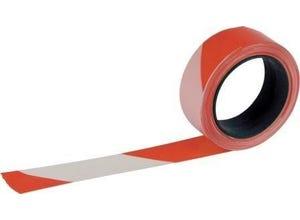 Ruban Rubaplast rouge blanc 100mx50mm