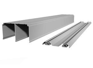 Rails haut et bas recoupable 240 cm gris