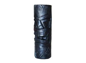 Totem Maori mm H 80 cm ton cire noir