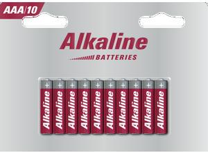 Blister 10 piles AAA alcalines LR6 1,5 V