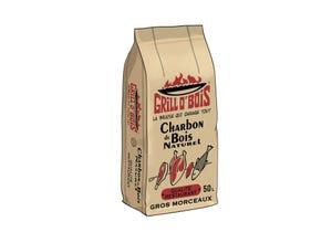 Charbon de bois 50 L Qualité Restaurant