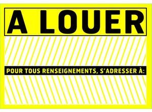 """Panneau de signalisation """"A louer"""" pvc avec adhésif"""