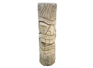 Totem Maori mm H80 cm ton vieilli
