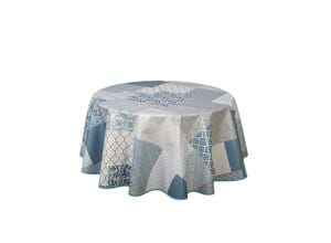 Nappe toile cirée ronde 175cm Patchmode bleu