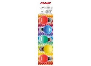 Blister de 5 ampoules E27 multicolore