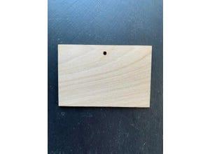 Etiquette châtaignier rectangle 10 X15 cm