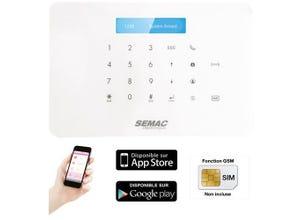 Kit alarme GSM sans fil pour sécuriser l'habitation