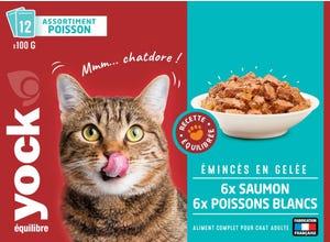Emincés en gelée chat adulte Saumon et Poisson Blanc