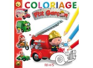 Coloriage p'tit garçon - Camion Léon