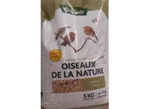 Mélange de graines oiseaux de la nature sac 4 kg+1 kg offert
