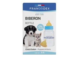 Biberon pour chiot et chaton + 2 tétines