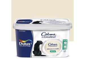 Peinture crème de couleur satin zéphir 2,5 L DULUX VALENTINE
