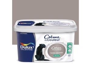 Peinture crème terre cendrée satin 2,5 L DULUX VALENTINE