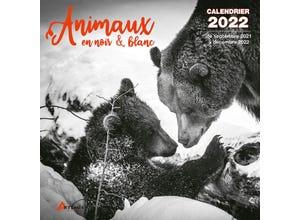 Calendrier animaux en noir et blanc 2022
