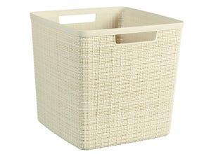 Panière jute cube 17l - plastique recyclé