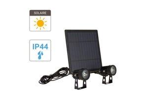 Double proj. LED solaire