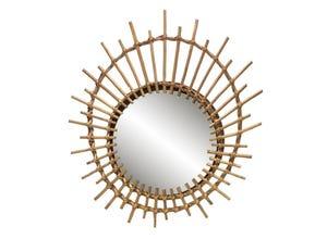 Miroir rotin œil 55x41 cm