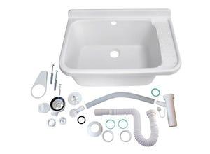 Poste d'eau lave-mains 59x38x27cm Blanc