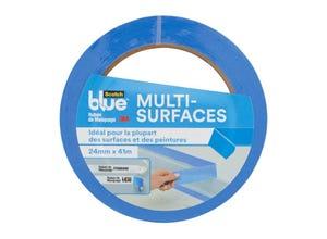 Ruban de masquage premium multi-surfaces bleu 41mx24mm