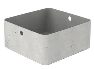 Bac béton L demi cube 8,5l sans couvercle