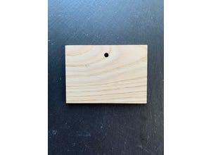 Etiquette châtaignier rectangle 7,5 x 10,5 cm