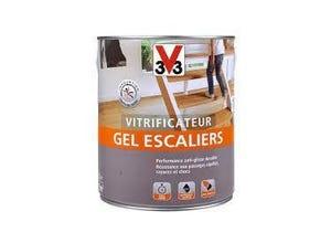 Vitrificateur gel escalier incolore chêne moyen satin 2.5L