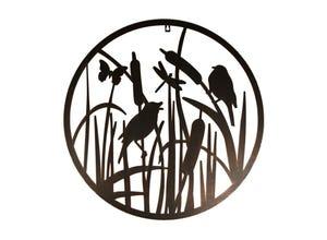 Décoration murale ronde oiseaux