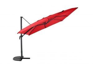 Parasol déporté en aluminium 300 x 300 cm