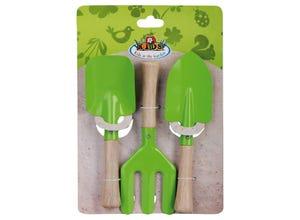 Set 3 accessoires de jardinage - vert