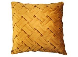Coussin Tressy brun doré 026 45 x 45 cm