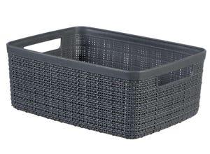 Panière jute rectangulaire 5l  - plastique recyclé