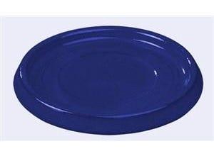Soucoupe 19 cm émail bleu