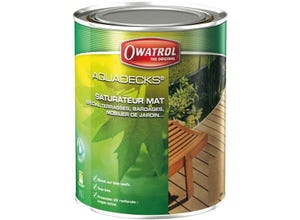 Traitement bois aquadecks miel - honey 1 L OWATROL