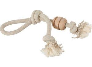 Jouet corde naturelle coton et lin Wild - poignée