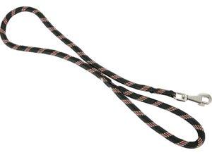 Laisse nylon corde 13mm - longueur 1,20M - noir
