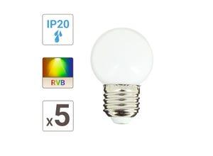 Lot de 5 ampoules P45 E27 1,2W