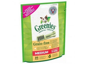 Friandises sticks dentaires Medium Grain Free 170g-GREENIES