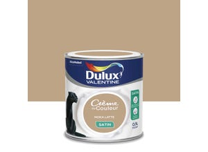 Crème de couleur satin moka latte 0,5 L DULUX VALENTINE