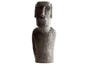 Buste de Moai H 40 cm ton cire noir