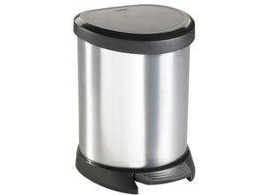 Poubelle 5l aspect metal