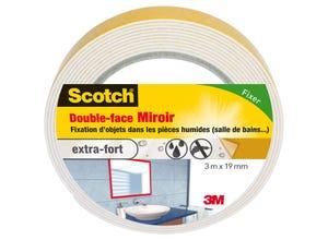 Adhésif moquette double face miroirs 3mx19mm