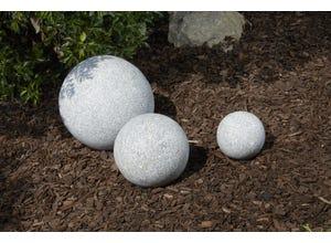 Boule granit gris 30 cm