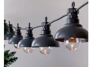 Guirlande  effet filament vintage-10 LED blanc chaud Factroy